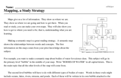 Print <i>Mapping, a Study Strategy</i> reading comprehension.