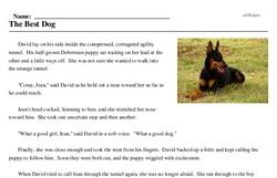 Print <i>The Best Dog</i> reading comprehension.