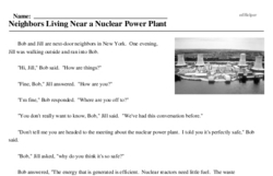 Print <i>Neighbors Living Near a Nuclear Power Plant</i> reading comprehension.