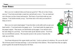 Print <i>Your Bones</i> reading comprehension.