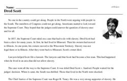 Print <i>Dred Scott</i> reading comprehension.