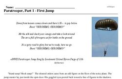 Print <i>Paratrooper, Part 1 - First Jump</i> reading comprehension.
