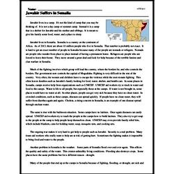 Print <i>Jawahir Suffers in Somalia</i> reading comprehension.