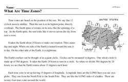 Print <i>What Are Time Zones?</i> reading comprehension.