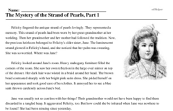 Print <i>The Mystery of the Strand of Pearls, Part 1</i> reading comprehension.