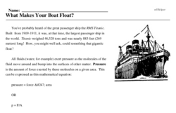 Print <i>What Makes Your Boat Float?</i> reading comprehension.