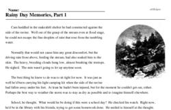 Print <i>Rainy Day Memories, Part 1</i> reading comprehension.