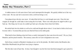 Print <i>Rainy Day Memories, Part 2</i> reading comprehension.