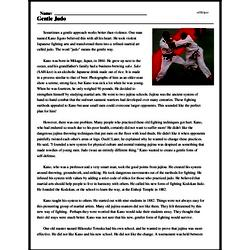 Print <i>Gentle Judo</i> reading comprehension.