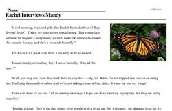 Print <i>Rachel Interviews Mandy</i> reading comprehension.