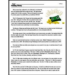 Print <i>Making Money</i> reading comprehension.