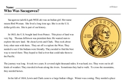Print <i>Who Was Sacagawea?</i> reading comprehension.