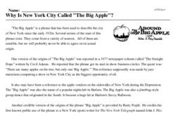 Print <i>Why Is New York City Called