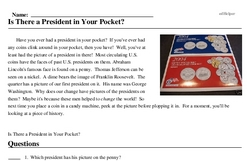 Print <i>Is There a President in Your Pocket?</i> reading comprehension.