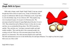 Print <i>Jingle Bells in Space</i> reading comprehension.
