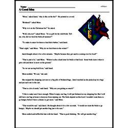 Print <i>A Good Idea</i> reading comprehension.