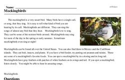 Print <i>Mockingbirds</i> reading comprehension.