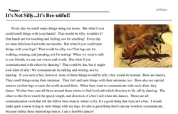 Print <i>It's Not Silly...It's Bee-utiful!</i> reading comprehension.