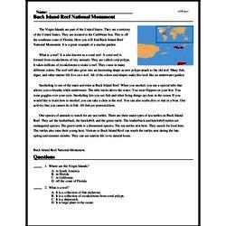 Print <i>Buck Island Reef National Monument</i> reading comprehension.