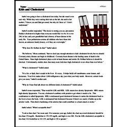 Print <i>Kids and Cholesterol</i> reading comprehension.