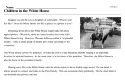 Print <i>Children in the White House</i> reading comprehension.