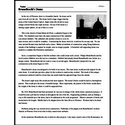 Print <i>Brunelleschi's Dome</i> reading comprehension.