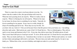 Print <i>You've Got Mail</i> reading comprehension.