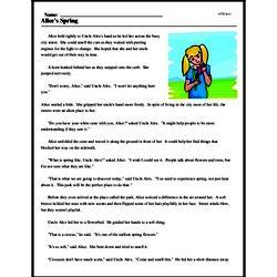 Print <i>Alice's Spring</i> reading comprehension.