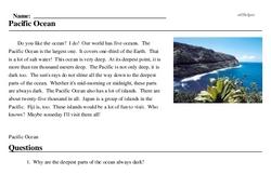 Print <i>Pacific Ocean</i> reading comprehension.