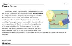 Print <i>Electric Current</i> reading comprehension.