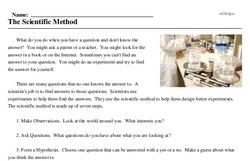 Print <i>The Scientific Method</i> reading comprehension.