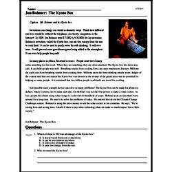 Print <i>Jon Bohmer: The Kyoto Box</i> reading comprehension.
