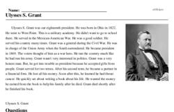 Print <i>Ulysses S. Grant</i> reading comprehension.