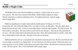 Print <i>Rubik's Magic Cube</i> reading comprehension.