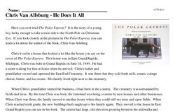 Print <i>Chris Van Allsburg - He Does It All</i> reading comprehension.
