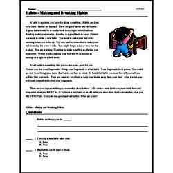 Print <i>Habits - Making and Breaking Habits</i> reading comprehension.