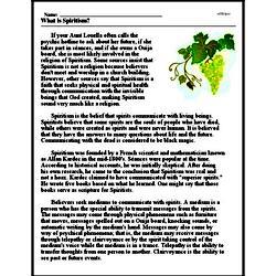 Print <i>What is Spiritism?</i> reading comprehension.