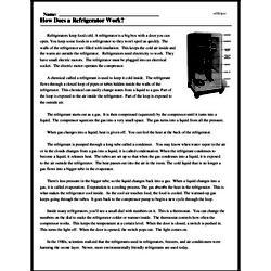 Print <i>How Does a Refrigerator Work?</i> reading comprehension.