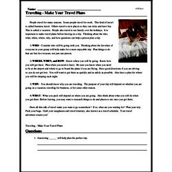 Print <i>Traveling - Make Your Travel Plans</i> reading comprehension.