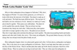 Print <i>Whole Lotta Shakin' Goin' On!</i> reading comprehension.