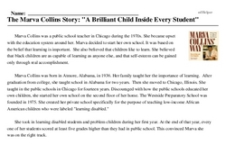 Print <i>The Marva Collins Story: