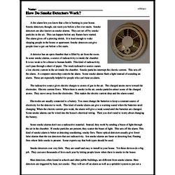 Print <i>How Do Smoke Detectors Work?</i> reading comprehension.