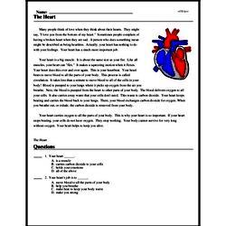 Print <i>The Heart</i> reading comprehension.