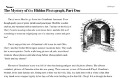 Print <i>The Mystery of the Hidden Photograph, Part One</i> reading comprehension.