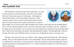 Print <i>One Symbolic Seal</i> reading comprehension.