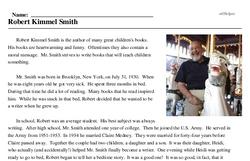 Print <i>Robert Kimmel Smith</i> reading comprehension.