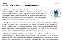 Print <i>Secretary of Housing and Urban Development</i> reading comprehension.