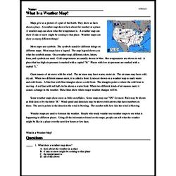 Print <i>What Is a Weather Map?</i> reading comprehension.