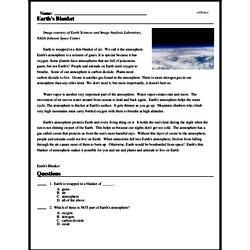 Print <i>Earth's Blanket</i> reading comprehension.