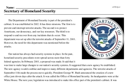 Print <i>Secretary of Homeland Security</i> reading comprehension.